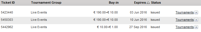 выигранные билеты на сателиты к MPN Poker Tour